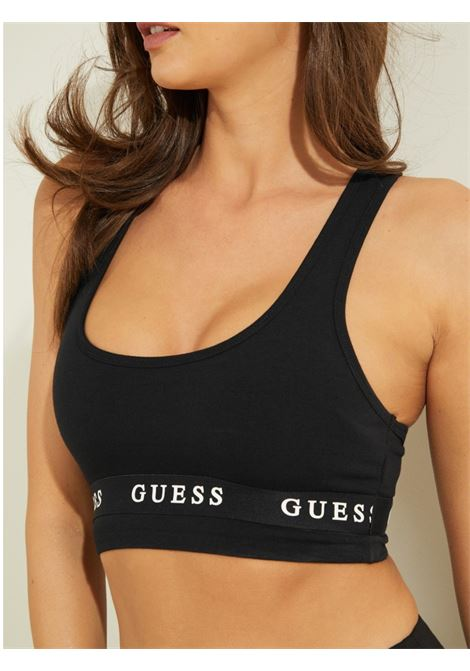 REGGISENO ACTIVE IN JERSEY STRETCH CON LOGO GUESS ACTIWEAR | Top | O1GA44 KABR0JBLK