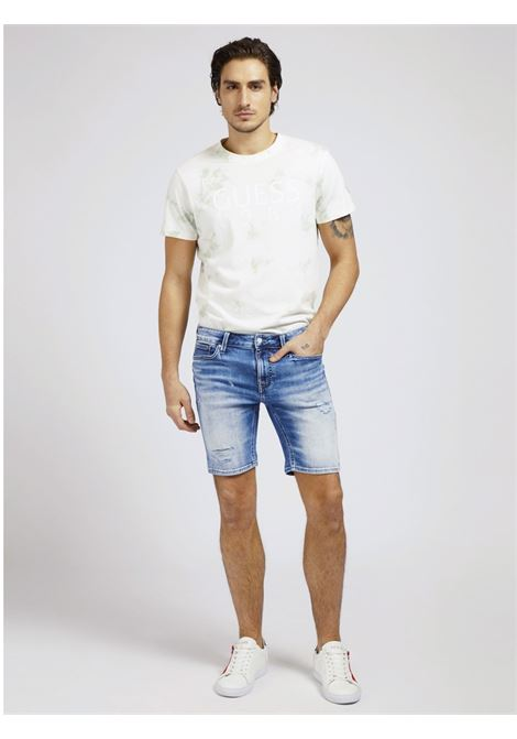 JEANS SHORT SLIM GUESS | Pantalone | M1GD03 D4CH2MVRS