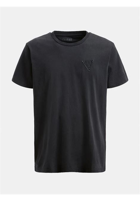 T-SHIRT TINTO IN CAPO LOGO GUESS | T-shirt | M1GI56 K8HM0JBLK