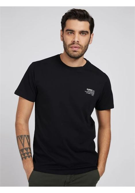 T-SHIRT LOGO FRONTALE REGULAR GUESS   T-shirt   M1GI66 K8HM0JBLK
