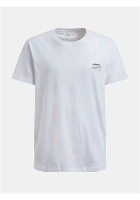 T-SHIRT LOGO FRONTALE REGULAR GUESS | T-shirt | M1GI66 K8HM0TWHT