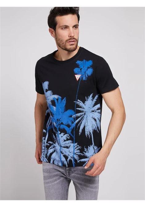 T-SHIRT STAMPA PIAZZATA GUESS   T-shirt   M1GI85 K8FQ1JBLK