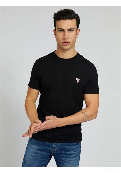 T-SHIRT TRIANGOLO LOGO GUESS | T-shirt | M1RI36 I3Z11JBLK