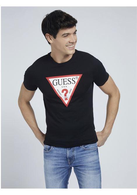 T-SHIRT LOGO TRIANGOLO GUESS | T-shirt | M1RI71 I3Z11JBLK