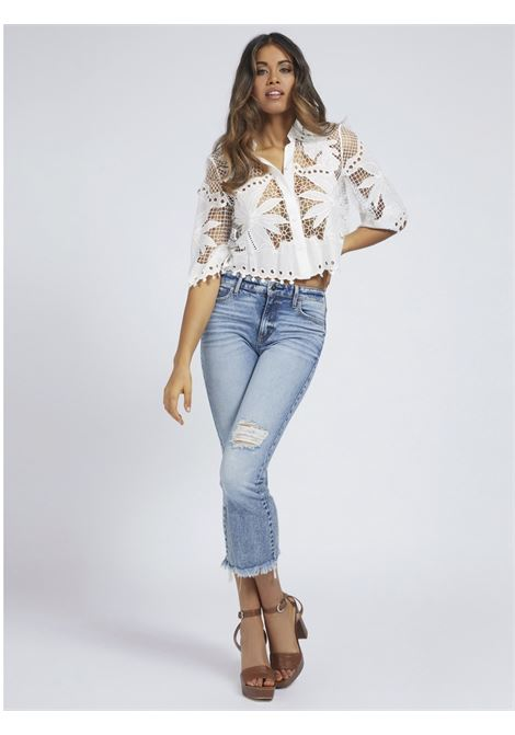 Camicia pizzo GUESS | Camicie | W1GH0D WDW20TWHT