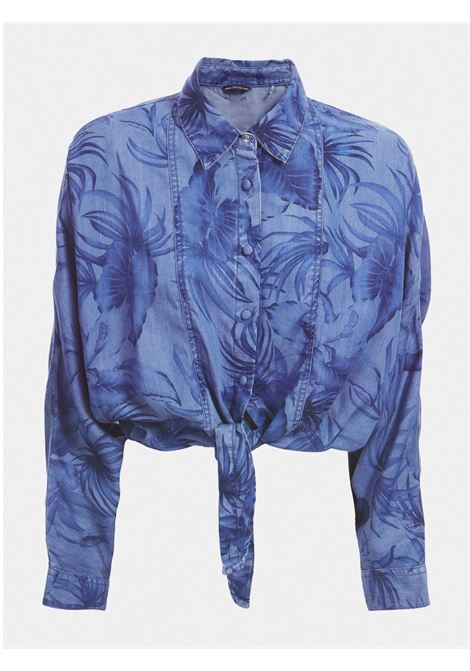 CAMICIA JEANS STAMPA ALL OVER GUESS | Camicie | W1GH30 D4D23OTHP