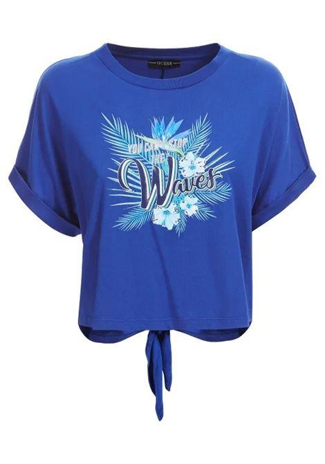 T-SHIRT STAMPA EFFETTO MALTINTO GUESS | T-shirt | W1GI1D K46D0G7L5