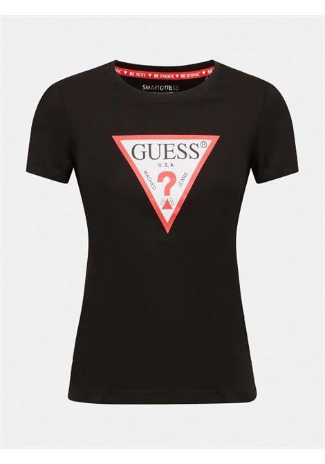 T-SHIRT LOGO TRIANGOLO GUESS | T-shirt | W1RI00 I3Z11JBLK