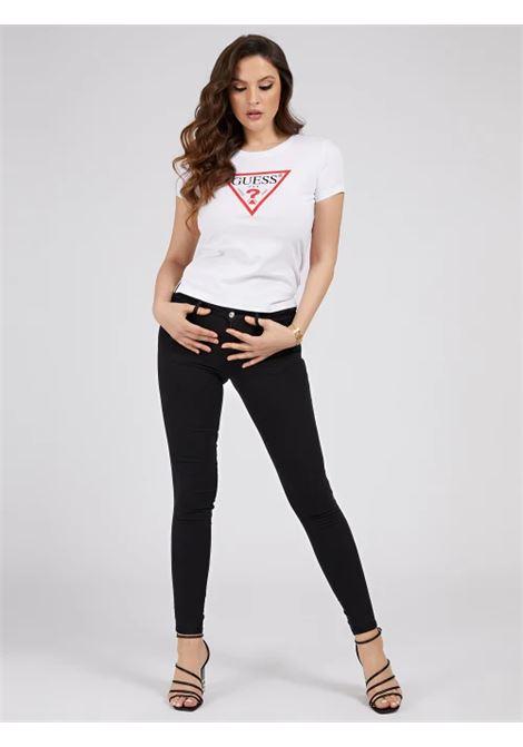 T-SHIRT LOGO TRIANGOLO GUESS | T-shirt | W1RI00 I3Z11TWHT