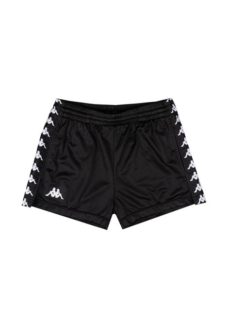 Pantaloncini da donna in tricot garzato Kappa | Pantalone | 304S7L0A15 BLACK-BLACK-WHITE