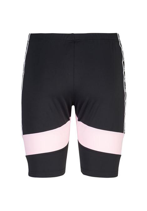 Pantaloncino donna stile ciclista Kappa | Pantalone | 3116LWWA01 BLACK-BLUE TURKIS-PINK