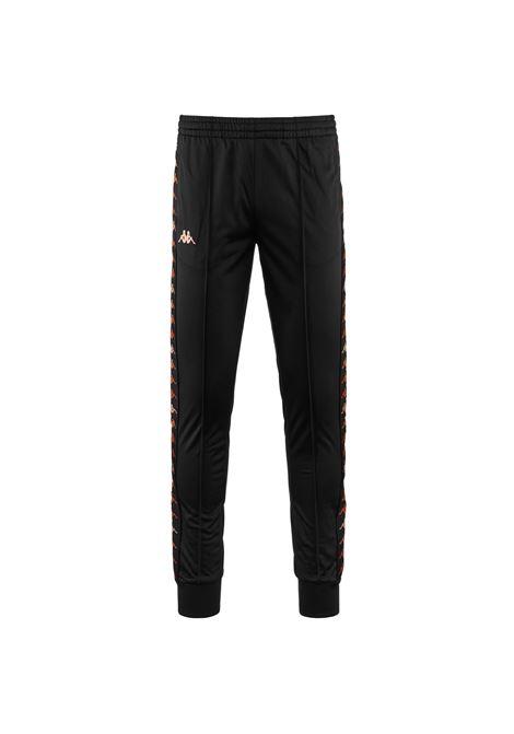 Pantalone da uomo in tricot garzato Kappa | Pantalone | 34147SWA00 BLACK-ORANGE PEACH