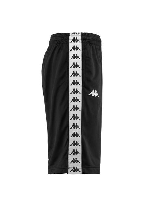 Bermuda da uomo in tricot garzato Kappa | Pantalone | 37145CWA09 BLACK-SILVER