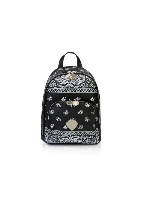 Backpack con tasca frontale LE PANDORINE | Borse | VICKY BACKPACKVERO BANDANA BLACK