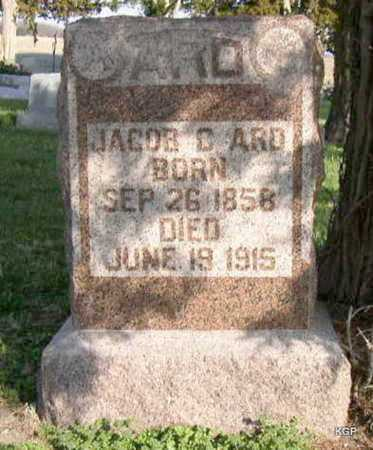 ARD, JACOB C - Allen County, Kansas | JACOB C ARD - Kansas Gravestone Photos