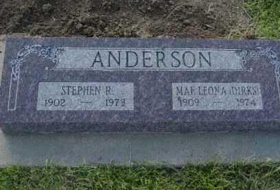 DIRKS ANDERSON, MAE LEONA - Barton County, Kansas | MAE LEONA DIRKS ANDERSON - Kansas Gravestone Photos