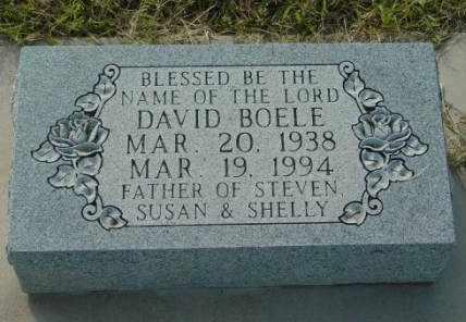 BOELE, DAVID - Barton County, Kansas | DAVID BOELE - Kansas Gravestone Photos