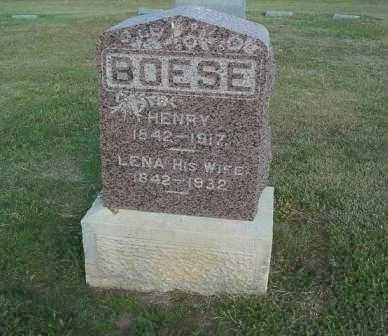 BOESE, HENRY - Barton County, Kansas | HENRY BOESE - Kansas Gravestone Photos