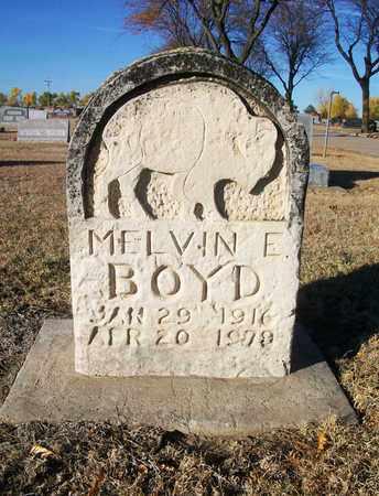 BOYD, MELVIN E - Barton County, Kansas | MELVIN E BOYD - Kansas Gravestone Photos