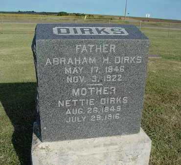 "DIRKS, AGANETHA ""NETTIE"" - Barton County, Kansas | AGANETHA ""NETTIE"" DIRKS - Kansas Gravestone Photos"