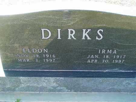 DIRKS, ELDON - Barton County, Kansas   ELDON DIRKS - Kansas Gravestone Photos