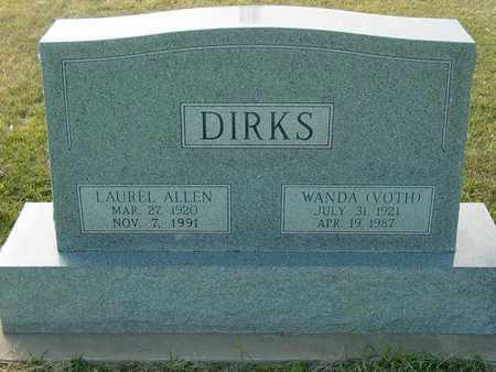 VOTH DIRKS, WANDA - Barton County, Kansas | WANDA VOTH DIRKS - Kansas Gravestone Photos