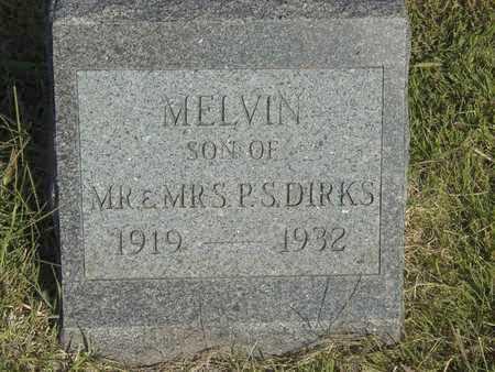DIRKS, MELVIN - Barton County, Kansas | MELVIN DIRKS - Kansas Gravestone Photos