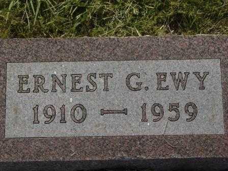 EWY, ERNEST G - Barton County, Kansas | ERNEST G EWY - Kansas Gravestone Photos