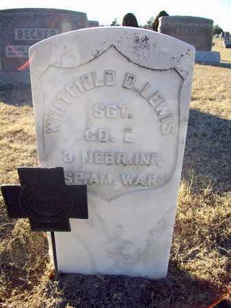 LEWIS, WHITFIELD D  (VETERAN SAW) - Barton County, Kansas | WHITFIELD D  (VETERAN SAW) LEWIS - Kansas Gravestone Photos
