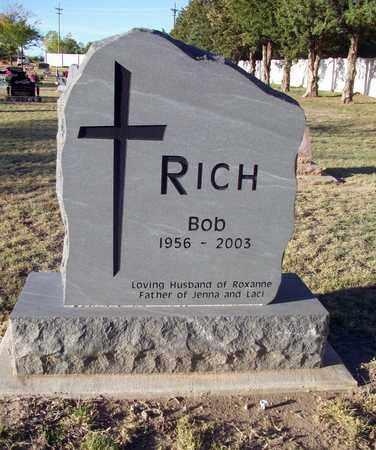 RICH, BOB - Barton County, Kansas | BOB RICH - Kansas Gravestone Photos