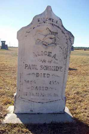 SCHMIDT, ALICE A - Barton County, Kansas | ALICE A SCHMIDT - Kansas Gravestone Photos