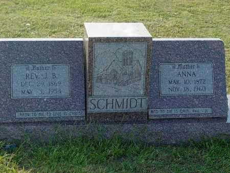 SCHMIDT, JACOB B, REVERAND - Barton County, Kansas | JACOB B, REVERAND SCHMIDT - Kansas Gravestone Photos