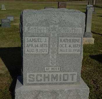 SCHMIDT, SAMUEL J - Barton County, Kansas   SAMUEL J SCHMIDT - Kansas Gravestone Photos