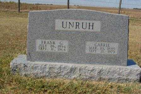 UNRUH, CARRIE - Barton County, Kansas | CARRIE UNRUH - Kansas Gravestone Photos