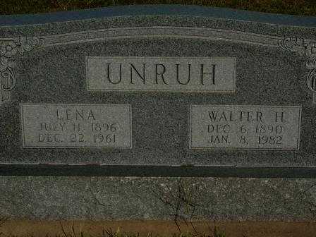 UNRUH, WALTER H - Barton County, Kansas | WALTER H UNRUH - Kansas Gravestone Photos