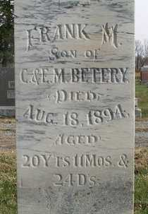 BETERY, FRANK M. (CLOSE UP) - Bourbon County, Kansas   FRANK M. (CLOSE UP) BETERY - Kansas Gravestone Photos