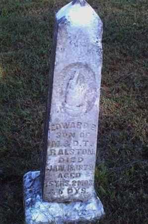 RALSTON, EDWARD E - Bourbon County, Kansas   EDWARD E RALSTON - Kansas Gravestone Photos