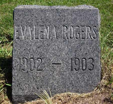 ROGERS, EVALENA - Bourbon County, Kansas | EVALENA ROGERS - Kansas Gravestone Photos