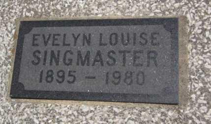 SINGMASTER, EVELYN LOUISE (CLOSE UP) - Bourbon County, Kansas | EVELYN LOUISE (CLOSE UP) SINGMASTER - Kansas Gravestone Photos