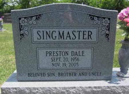 SINGMASTER, PRESTON DALE - Bourbon County, Kansas   PRESTON DALE SINGMASTER - Kansas Gravestone Photos