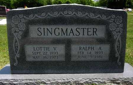 SINGMASTER, RALPH A - Bourbon County, Kansas | RALPH A SINGMASTER - Kansas Gravestone Photos