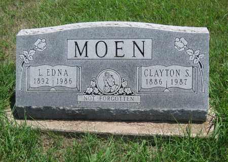 MOEN, L EDNA - Butler County, Kansas | L EDNA MOEN - Kansas Gravestone Photos