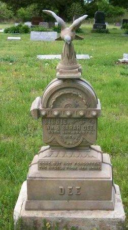 "DEE, CYNTHA ELIZA ""NINNIE"" - Chase County, Kansas | CYNTHA ELIZA ""NINNIE"" DEE - Kansas Gravestone Photos"