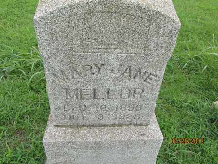 MELLOR, MARY JANE - Chautauqua County, Kansas | MARY JANE MELLOR - Kansas Gravestone Photos