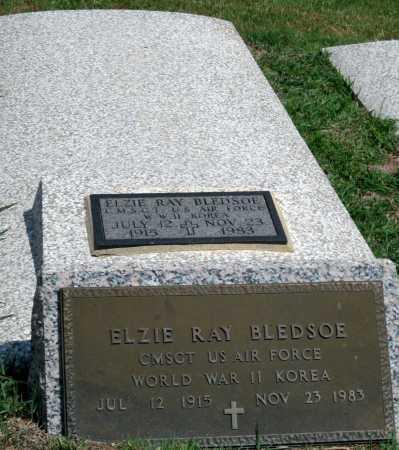 BLEDSOE, ELZIE RAY  (VETERAN 2 WARS) - Cherokee County, Kansas | ELZIE RAY  (VETERAN 2 WARS) BLEDSOE - Kansas Gravestone Photos