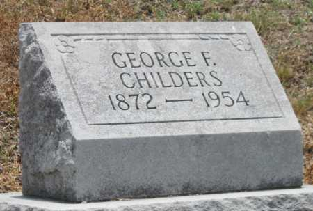 CHILDERS, GEORGE FRANK - Cherokee County, Kansas | GEORGE FRANK CHILDERS - Kansas Gravestone Photos