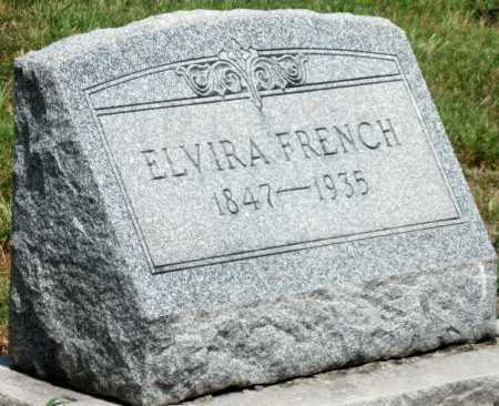FRENCH, ELVIRA - Cherokee County, Kansas   ELVIRA FRENCH - Kansas Gravestone Photos