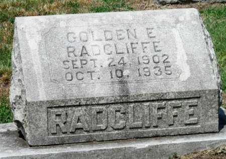 RADCLIFFE, GOLDEN E - Cherokee County, Kansas   GOLDEN E RADCLIFFE - Kansas Gravestone Photos