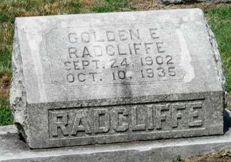 RADCLIFFE, GOLDEN E - Cherokee County, Kansas | GOLDEN E RADCLIFFE - Kansas Gravestone Photos