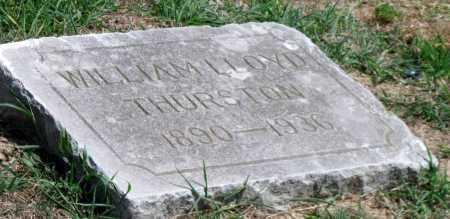 THURSTON, WILLIAM LLOYD - Cherokee County, Kansas   WILLIAM LLOYD THURSTON - Kansas Gravestone Photos